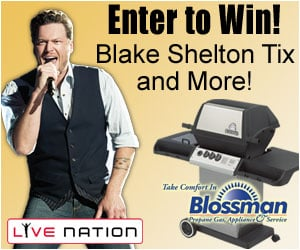 Enter to win tickets to see Blake Shelton live!
