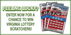 Enter to win Virginia Lottery scratcher tickets