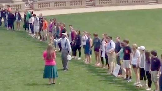 UVA students respond to anit-gay protest by singing