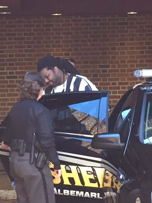 Jesse Matthew leaving Albemarle Circuit Court after pleading guilty