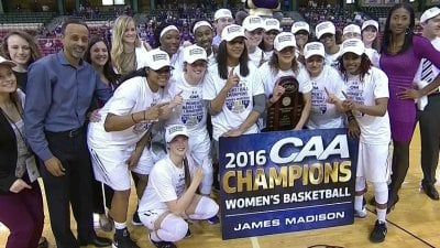 JMU Wins Third Consecutive CAA Women's Basketball ...