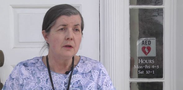 Margaret O'bryant with Albemarle Charlottesville Historical Society