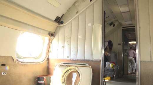 The interior of the Columbine II