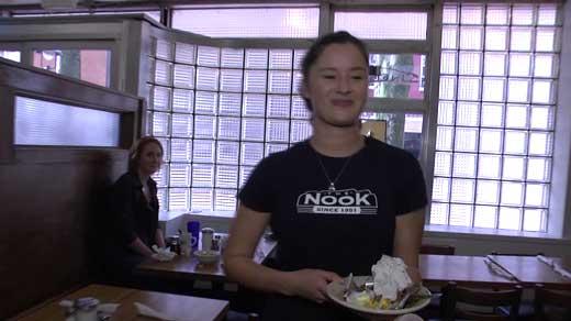 Shannon O'Brien, waitress at the Nook