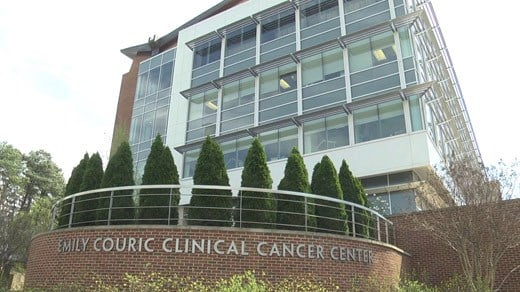 The University of Virginia Emily Couric Clinical Cancer Center (FILE IMAGE)