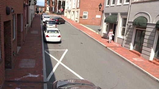 Street parking along 5th Street NE in downtown Charlottesville