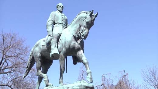The Robert E. Lee statue in Charlottesville's Lee Park