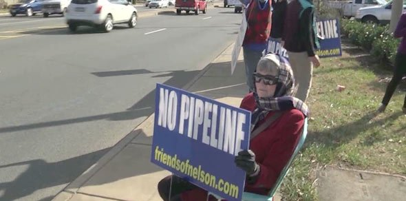 Pipeline protesters