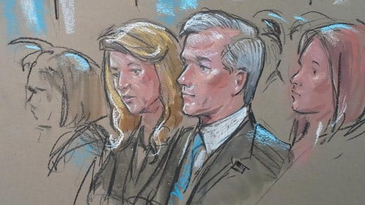 Maureen and Bob McDonnell at the U.S. Supreme Court (Image courtesy Bill Hennessy).
