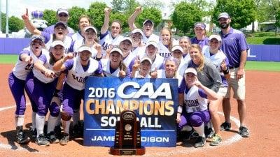 JMU softball wins the 2016 CAA Tournament championship