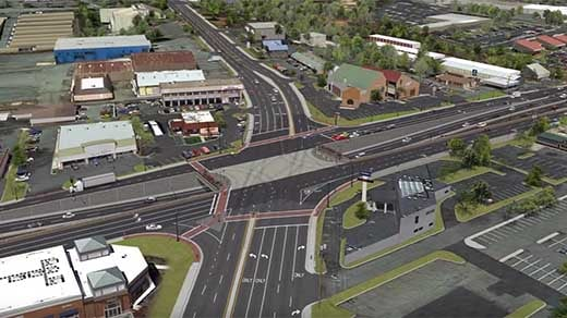 Rendering of what the Rt. 29 / Rio Rd. intersection will look like once it is completed.