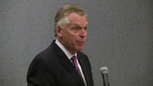 File image of Governor Terry McAuliffe