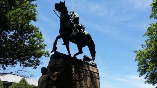 "Statue of Confederate General Thomas Johnathan ""Stonewall"" Jackson in Justice Park (FILE IMAGE)"