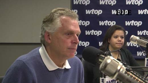 Governor Terry McAuliffe at an interview with WTOP radio (FILE)