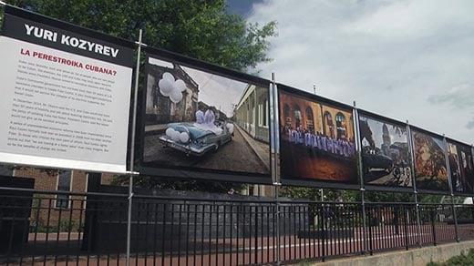 Yuri Kozyrev's LOOK3 exhibition on Charlottesville's Downtown Mall