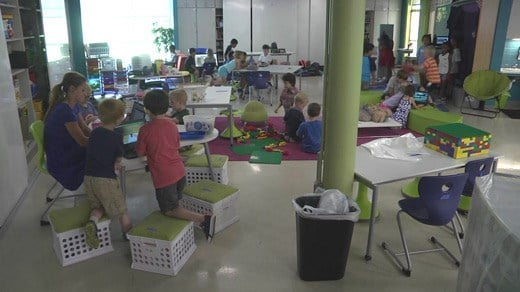 Multiage classroom at Agnor-Hurt Elementary School