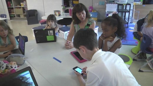 Multiage classroom at Agnor-Hurt Elementary School