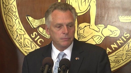 Governor Terry McAuliffe (FILE IMGE)