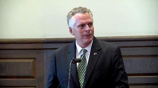 Governor Terry McAuliffe (FILE)