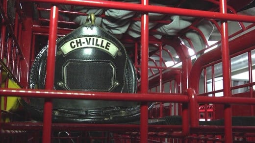 Helmet used by the Charlottesville Fire Department