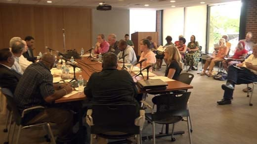 The Blue Ribbon Commission elected leaders at its third meeting Thursday