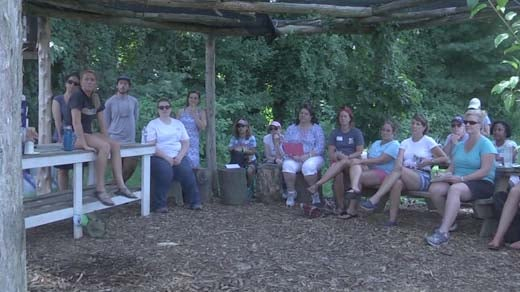 Teachers learning to Garden in Charlottesville