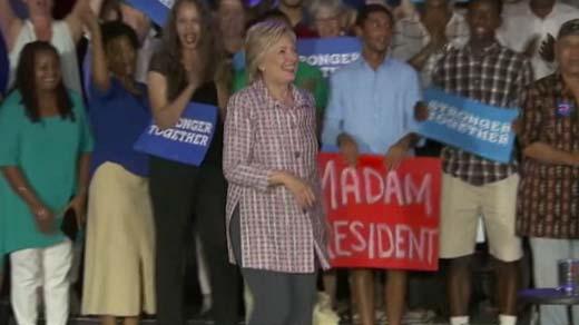 Hillary Clinton, Democratic presidential nominee