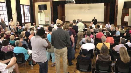 The Blue Ribbon Commission held its first public forum Wednesday