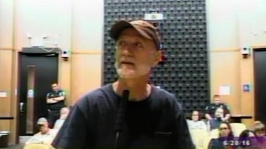 File Image: Joseph Draego speaking before City Council (Image courtesy Charlottesville)