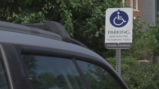 Handicapped parking spot in Charlottesville