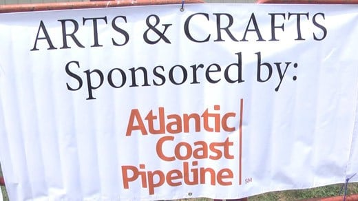 Sign at Augusta County Fair
