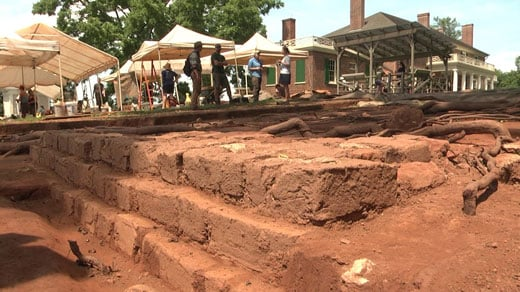 Archaeological dig site at James Madison's Montpelier