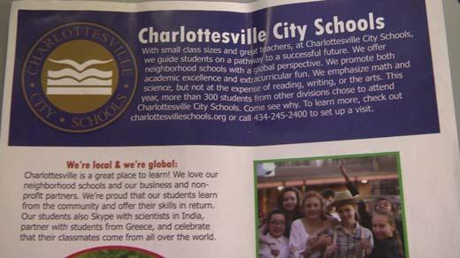 Charlottesville City School's ad campaign flyer