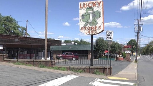 Lucky 7 convenience store on E. Market Street in Charlottesville