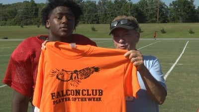 LCHS quarterback Malik Bell wins the Falcon Club Player of the Week