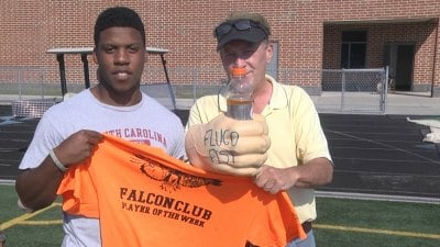 Fluvanna's Mark Grooms is named the Falcon Club Player of the Week