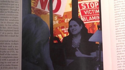 "Depiction of Nicole Eramo in Rolling Stone Magazine's "" A Rape on Campus"""