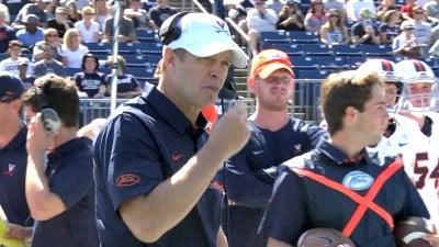 Benkert TDs rescue Virginia against Central Michigan, 49-35