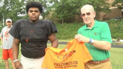 Sabias Folley is named the Falcon Club Player of the Week
