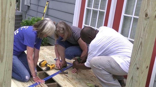 Albemarle Housing Improvement Program volunteers taking part in the Safe At Home campaign (File)