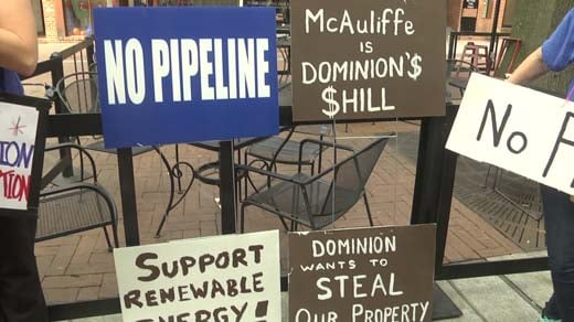 Protest against the Atlantic Coast Pipeline on the Downtown Mall