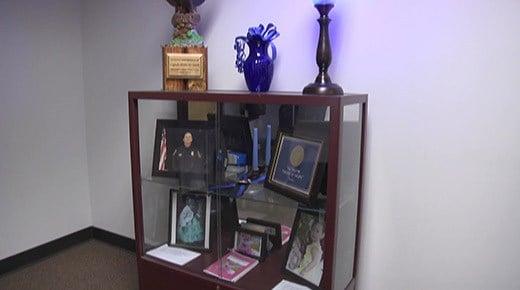 Memorial display at the Waynesboro Police Department