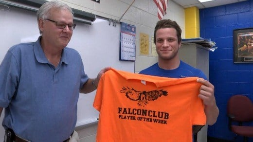 Derek Domecq is the Falcon Club Player of the Week