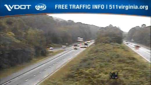 Traffic accident on I-64 in Albemarle County (Image courtesy VDOT)