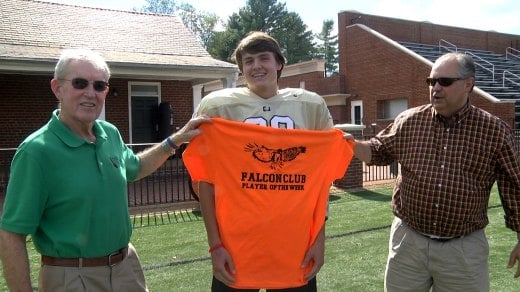 Will Wideman is the Falcon Club Player of the Week