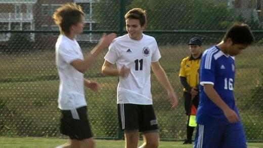 STAB's Alex Bertone scored three goals in the Saints' 5-0 win over Blue Ridge