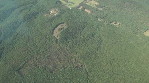 Aerial view of the new proposed path for the Atlantic Coast Pipeline