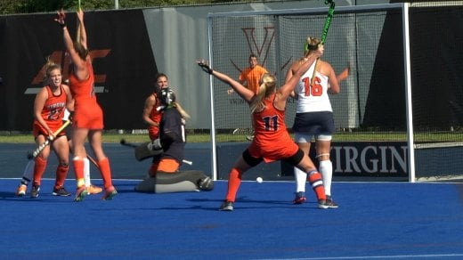 Lucy Hyams scored the game-winning goal in overtime to lift No.10 UVa over No. 2 Syracuse