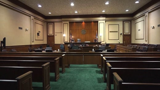 A federal courtroom in Charlottesville (FILE)