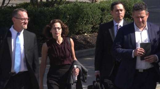 Sabrina Rubin Erdely and attorneys entering court